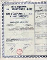 Th5   ALGERIE : DEVELOPPEMENT : Certificat1959N° 32 - Other