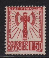 Francisque - N°8 - 1f50 Brun Rouge - Neuf Sans Gomme - Cote 45€ - Service