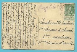 Kaart Stempel TOURNAI Op 4/8/1914 (Offensief W.O.I) - Guerre 14-18