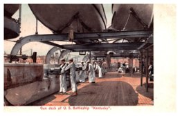 Gun Deck Of U.S. Battleship Kentucky - Oorlog