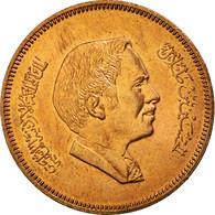 Monnaie, Jordan, Hussein, 10 Fils, Qirsh, Piastre, 1989, SPL, Bronze, KM:37 - Jordanie