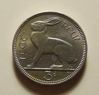 Ireland 3 Pence 1956 Varnished - Irlande