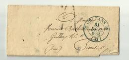 31 Déc.1832 - 1 Er Janvier 1833 -ORLEANS - Cachet à Date- - Storia Postale