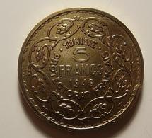 Tunisia 5 Francs 1946 Varnished - Tunisia
