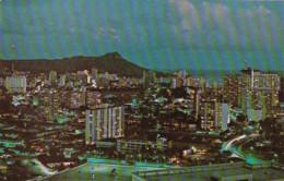 Hawaii Honolulu View From La Ronde Revolving Restaurant - Honolulu