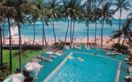 Hawaii Honolulu Outrigger Hotel Swimming Pool - Honolulu