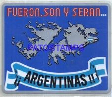 106714 ARGENTINA UK ISLAS MALVINAS FALKLAND ISLAND STICKER CALCO NO POSTAL POSTCARD - Ansichtskarten