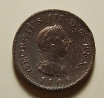 Great Britain 1 Farthing 1806 Varnished - A. 1 Farthing