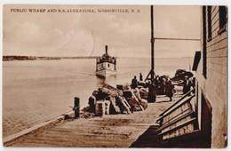 Loggieville, N.B. - Public Warf And S.S. Alexandra, Postally Used In 1914, Interesting Message. - New Brunswick
