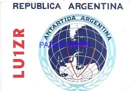 106727 ARGENTINA ANTARTIDA ANTARCTICA DESTACAMENTO NAVAL PETREL RADIO LU8CK 1974 NO POSTAL POSTCARD - Ansichtskarten