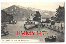 CPA - Port Et Mont De Veyrier, Quai Bien Animé à ANNECY 74 Haute Savoie - L L N° 91 - Scans Recto-Verso - Annecy