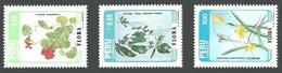 PERU 1986 FLORA FLOWERS NASTURTIUM HYMENOCALIS DATURA 3 SETS MNH - Peru