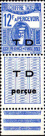 Tunisie Taxe N** Yv:56 Mi:56 Deesse Carthaginoise Avec Vignette TD Perçue Bord De Feuille - Tunisia (1888-1955)