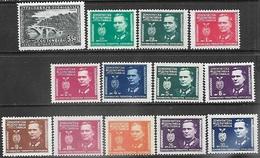 Yugoslavia 1940-5   Sc#159, 160-71   Bridge & Tito Set  MH   2016 Scott Value $7.55 - 1945-1992 Socialist Federal Republic Of Yugoslavia