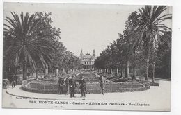 (RECTO / VERSO) MONTE CARLO - N° 788 - ALLEE DES PALMIERS - BOULINGRINS - CASINO - CACHET ET TIMBRE DE MONACO - CPA - Monte-Carlo