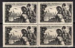 FRANCE 1942 - BLOC DE 4 TP / Y.T. N° 543 - NEUFS** - France