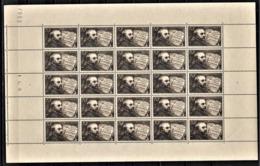 FRANCE 1942 - Y.T. N° 542 / FEUILLE DE 25 TP / NEUFS** - Feuilles Complètes