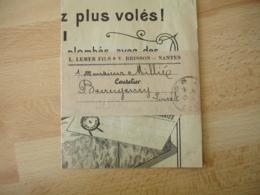 P P Port Paye Roanne Sur Bande Envoi Publicite Lemer Fild Et V Brisson Nantes - 1877-1920: Période Semi Moderne