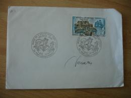 Signature Manuscrite Decaris Sur Lettre Port Louyis Musee Atlantique - Marcophilie (Lettres)