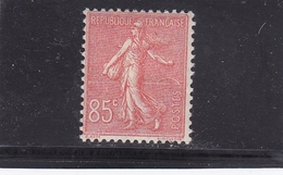 FRANCE 1924-265 SEMEUSE LIGNEE N° 204  85C ROUGE  TRACE CHARNIERE - 1906-38 Semeuse Camée