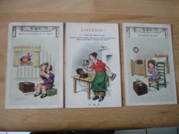 Lot De 3  Theme T S F Radio Telephone  Illustrateur - Other