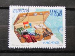 *ITALIA* USATI 2004 - EUROPA 2004 VACANZE - SASSONE 2763 - LUSSO/FIOR DI STAMPA - 6. 1946-.. Repubblica