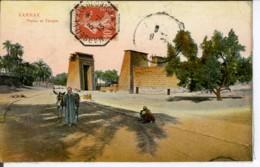 Etg Afrique Egypte Karnak  - Phylon Et Temple Animee 1913 EVT TBE Colorisee - Egypte