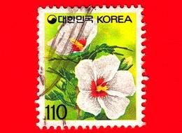 COREA Del SUD - Usato - 1993 - Fiori - Piante ( Flora ) - Rose Of Sharon - 110 - Corea Del Sud