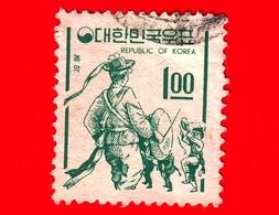 COREA Del SUD - Usato - 1966 - Simboli Del Paese - Folk Dancers - 1 - Corea Del Sud