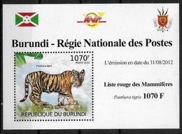 BURUNDI Epreuve De Luxe N° 1604  * *   Liste Rouge  Tigre - Francobolli