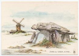 ROBERT LEPINE - 15 00 1077 - Edts Yvon - *Aquarelle. Dolmen De Kerbour Saint Lyphar. - Altre Illustrazioni