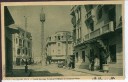 Etg Maroc Casablanca Angle Des Rues Aviateur-Vedrines Et Aviateur Prom Animee 1931 EV BE Sepia - Altri