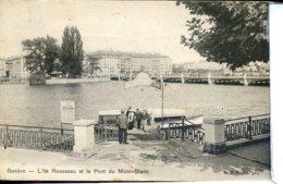 Etg Suisse Geneve L Ile Rousseau Et Le Pont Du Mont-Blanc, Vedette De Passage, Manque Timbre - Altri