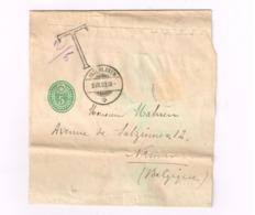 Entier Postal à 5 Centimes.Expédiéde Interlaken à Namur (Belgique).Taxé. - Ganzsachen