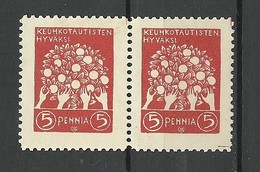FINLAND FINNLAND 1908 Vignette  Fight Against Tuberculosis Akseli Gallen-Kallela Design (*) - 1856-1917 Russian Government