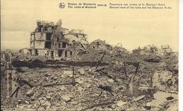 RUINES DE WESTENDE 1914 - 18  PANORAMA DES RUINES ET LE WESTEND HOTEL - Guerre 1914-18