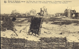 "RUINES DE WESTENDE 1914 - 18 LES VILLAS ""LES TERRASSES""  ""L'HERMITAGE ""   LES GLYCIENS"" - Guerre 1914-18"