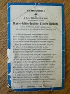 WILLERZIE:SOUVENIR DE DECE DE MARIE ADELE JUSTINE ELMIRE ROBIN -1903-1905 ENFANT - Images Religieuses