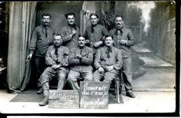 Guerre 14-18 Soldats Allies Prisonniers Francais Camp Darmstadt 1917 Carte Photo - Guerre 1914-18