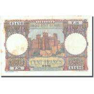 Billet, Maroc, 100 Francs, 1952, 1952-12-22, KM:45, TTB - Marocco
