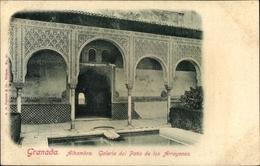 Cp Granada Andalusien Spanien, Alhambra, Galeria Del Patio De Los Arrayanes - Espagne