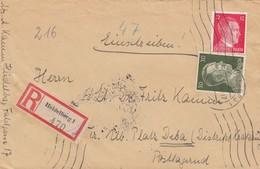 17 4 1944. LETTRE RECOMMANDÉ.  HEIDELBERG (BADE-WURTEMBERG) POUR DEBA KRAKAU  (CRACOVIE POLOGNE) /  5554 - Deutschland