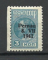 ESTLAND Estonia 1941 Pernau Michel 3 II A German Occupation MNH Signed K. Kokk - Occupation 1938-45