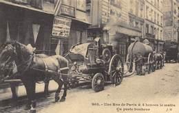 Une Rue De Paris à 4 Heures Le Matin - Attelage De Chevaux - Pompe à Merde - Cecodi N'937 - Francia
