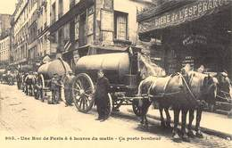 Une Rue De Paris à 4 Heures Le Matin - Attelage De Chevaux - Pompe à Merde - Cecodi N'938 - Francia