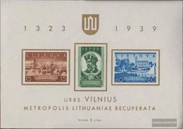 Litauen Blocco 2 (completa Edizione) Con Fold 1940 Wilnagebiet - Litauen