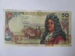France 50 Francs 1974''Racine'' Banknote - 1962-1997 ''Francs''