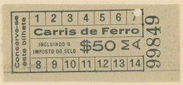 (295b) BILLETE DE TRANVIA (CARRIS DE FERRO) DE LISBOA // 1930 - Tramways