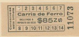 (295d) BILLETE DE TRANVIA (CARRIS DE FERRO) DE LISBOA // 193d - Tramways
