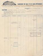 Suisse Facture Illustrée 20/9/1930 SA Fabrique De Bas Et De Sous Vêtements RHEINECK - Switzerland